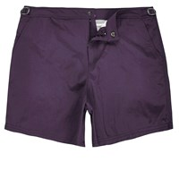 River Island Mens Dark Purple Swim Shorts