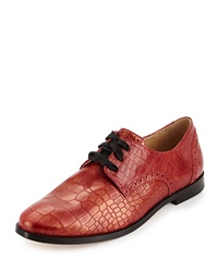 Cole Haan Breslyn Lace Up Oxford Red Gold