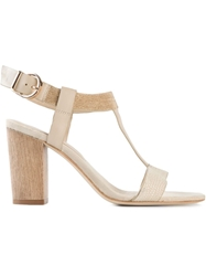 Lola Cruz Embellished Sandals Nude And Neutrals