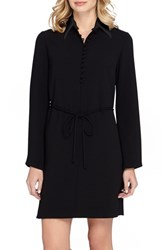 Tahari Women's Long Sleeve Woven Shirtdress