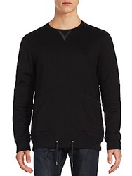 Helmut Lang Solid Long Sleeve Pullover Black