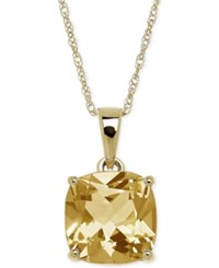 Macy's Citrine 2 1 5 Ct. T.W. Pendant Necklace In 14K Gold