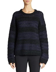 424 Fifth Striped Knit Pullover Evening Blue