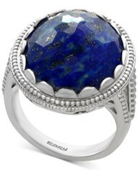Effy Lapis Lazuli Statement Ring 12 1 5 Ct. T.W. In Sterling Silver Blue