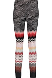 Missoni Crochet Knit Skinny Pants Multi