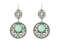 Mandf Western Filagree Turquoise Drop Earrings Light Turquoise Earring Blue