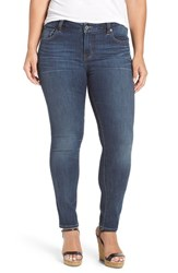Lucky Brand Plus Size Women's 'Ginger' Stretch Skinny Jeans Barrier