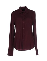 Ralph Lauren Black Label Shirts Shirts Women Maroon