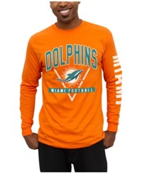 Junk Food Men's Miami Dolphins Nickel Formation Long Sleeve T Shirt Orange