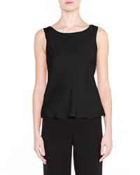 Giorgio Armani Classic Sleeveless Silk Top Black