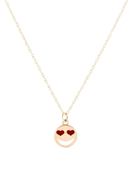 Alison Lou Enamel And Yellow Gold Love Struck Necklace