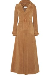 Maison Martin Margiela Suede Trench Coat Tan
