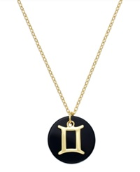 Studio Silver Gemini Pendant Necklace In 18K Gold Over Sterling Silver