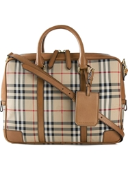 Burberry 'Horseferry Check' Briefcase Nude And Neutrals