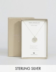 Dogeared Maya Angelou Legacy By Sterling Silver Nothing Can Dim The Light From Within Engraved Reminder Necklace Silver