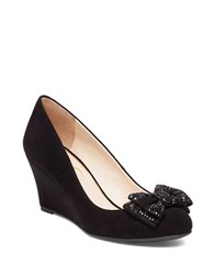 Jessica Simpson Selonia Bow Accent Wedge Pumps Black