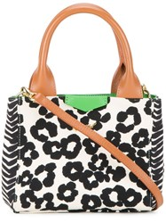 Muveil Leopard Print Tote Bag Nude And Neutrals