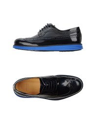 Armani Collezioni Footwear Lace Up Shoes Men Dark Blue
