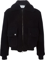 Carven Aviator Jacket Blue