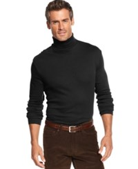 John Ashford Big And Tall Long Sleeve Turtleneck Interlock Shirt Deep Black