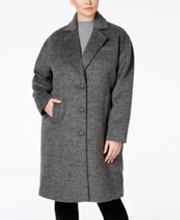 Jones New York Plus Size Brushed Peacoat Grey