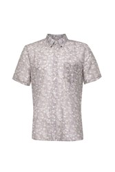 French Connection Men's Monet Freedom Floral Slim Fit Short Sleeve Shirt Pink