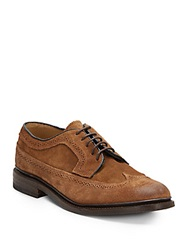 Frye James Suede Wingtip Oxfords Brown