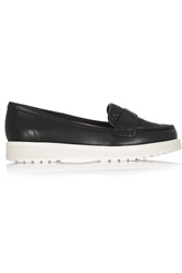 Dkny Lian Woven Leather Loafers