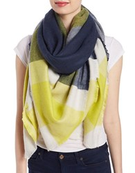Collection 18 Oversized Knit Scarf Navy Blue