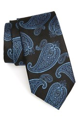 Men's Nordstrom Men's Shop 'Paris Paisley' Silk Tie Black
