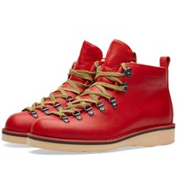 Fracap M120 Natural Vibram Sole Scarponcino Boot Red