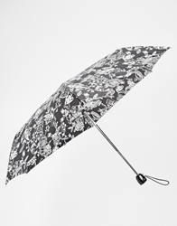 Totes Enchanted Print Umbrella Blkwht