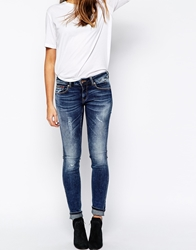 Tommy Hilfiger Hilfiger Denim Sophie Skinny Jeans With Distressing Blue