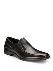 Rush By Gordon Rush Leather Apron Toe Loafers Black