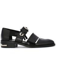 Toga Studded Cut Out Shoes Black
