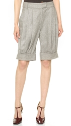 Band Of Outsiders Slouchy Cuffed Shorts Grey