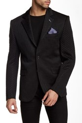 Ron Tomson Fitted Brocade Blazer Black