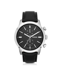 Fossil Townsman Chronograph Black Leather Men's Watch