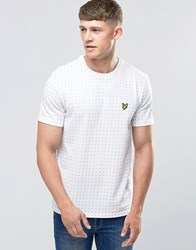 Lyle And Scott T Shirt With Square Dot Print In White White
