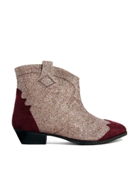Ganni Glitter Tabitha Colour Block Ankle Boots 999Multicolour