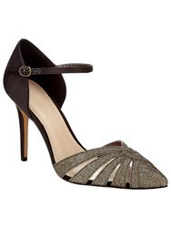 Phase Eight Ivy Sparkle Pointed Court Shoes Bronze