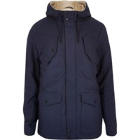 River Island Mens Navy Borg Lined Winter Coat