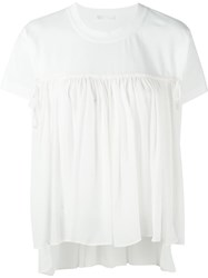 Chloe Smock Short Sleeved Blouse White