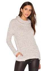 Splendid Double Face Loose Knit Pullover Gray
