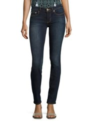 Tory Burch Low Rise Skinny Jeans Resin Dark