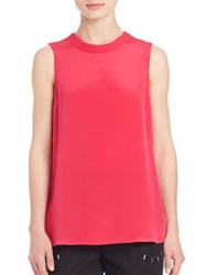3.1 Phillip Lim Silk Sleeveless Top Bright Cerise