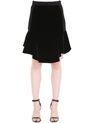 La Perla Flared Viscose Crepe Skirt