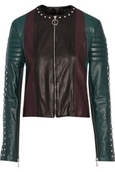 Just Cavalli Studded Leather Jacket
