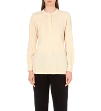 Raquel Allegra Textured Cotton Top Champagne