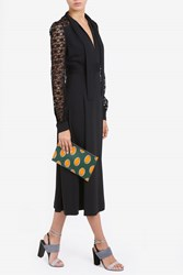 Elie Saab Women S Lace Sleeve Midi Dress Boutique1 Black